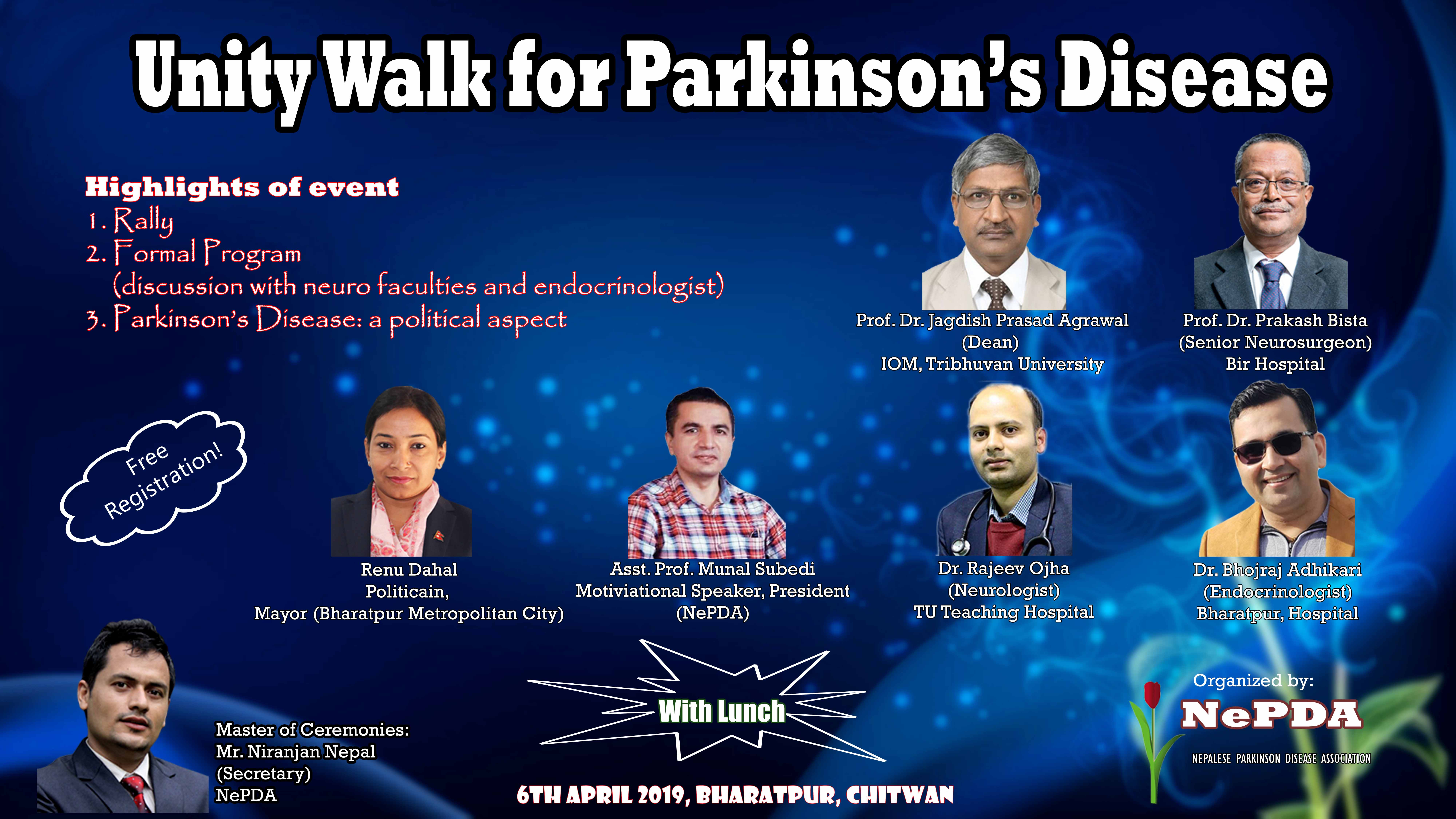 Unity Walk for Parkinson's Disease, Butwal