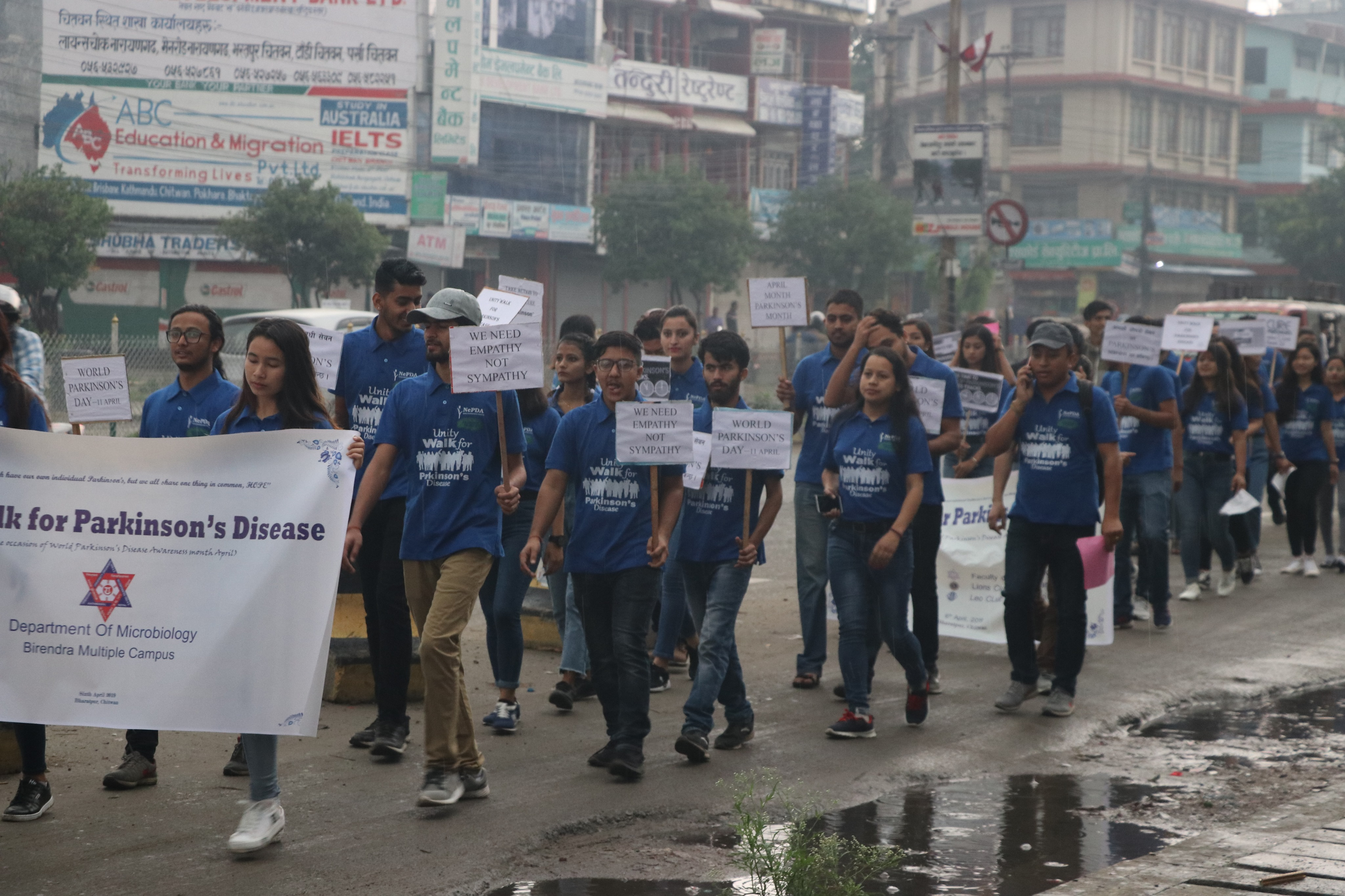 Unity Walk for Parkinson's Disease, Bharatpur, Chitwan, Nepal (Informal Session)